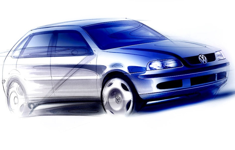 Volkswagen Gol G3 Sketch copy
